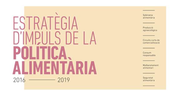Portada del estudio de Estrategia de impulso de la política alimentaria 2016 - 2019