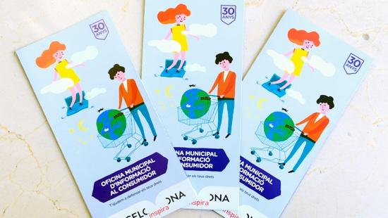 Imatge dels tríptics informatius sobre els serveis de l'OMIC