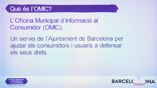 What is OMIC? The Municipal Consumer Information Office (OMIC) is a service provided by Barcelona City Council to help consumers and users to safeguard their rights.