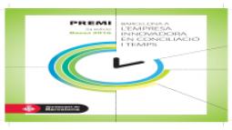 Convocatòria premi Barcelona a l'empresa innovadora en conciliació i temps.