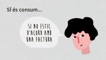 Exemple: es considera consum si la persona consumidora no està d'acord amb una factura