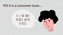 For example: if a consumer disagrees with an invoice, it is considered a consumer issue