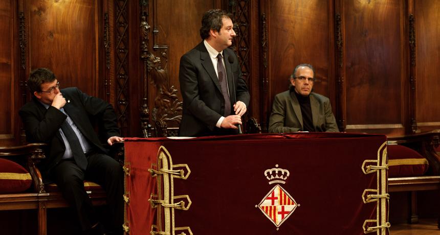 Jordi Hereu - Acte de lliurament Premis Ciutat de Barcelona 2010
