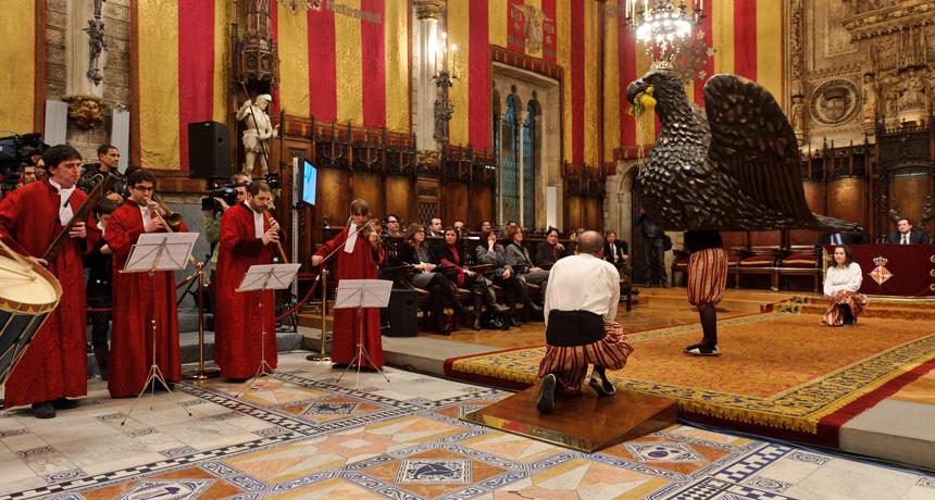 Ball de l'àliga - Acte de lliurament Premis Ciutat de Barcelona 2010