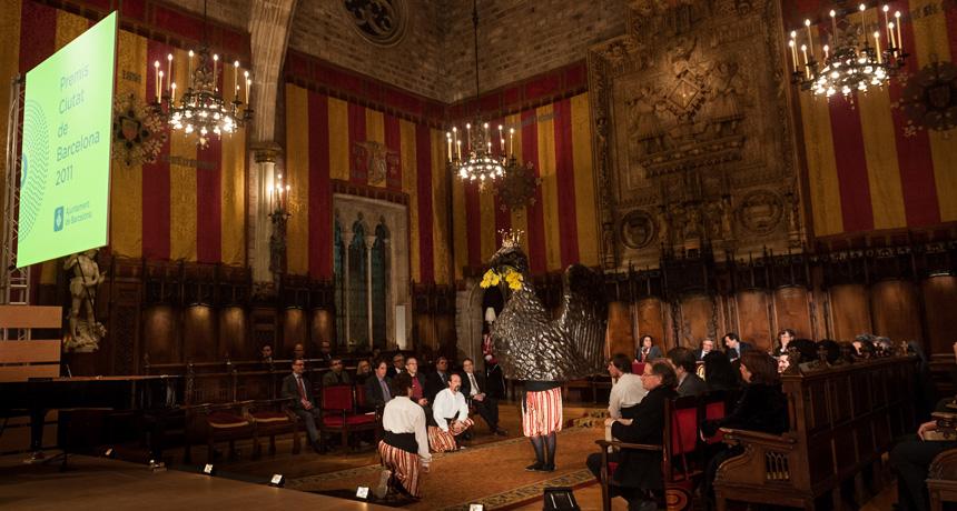 Ball de l'àliga - Acte de lliurament Premis Ciutat de Barcelona de 2011