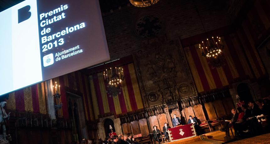 Acte de lliurament Premis Ciutat de Barcelona 2013