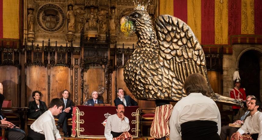 Ball de l'àliga - Acte de lliurament Premis Ciutat de Barcelona 2013