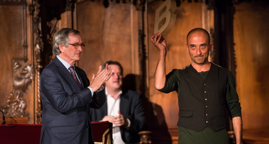 Pallasso rodamón Leandre - Premi Ciutat de Barcelona de Circ 2013