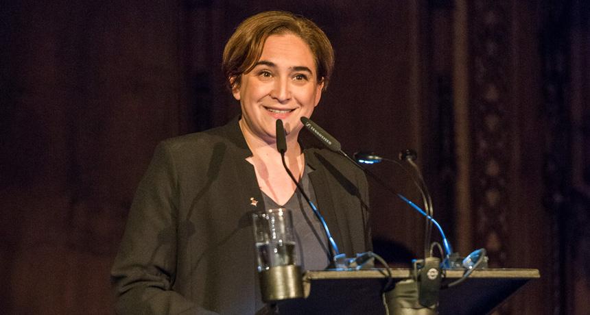 Ada Colau - Acte de lliurament Premis Ciutat de Barcelona 2015