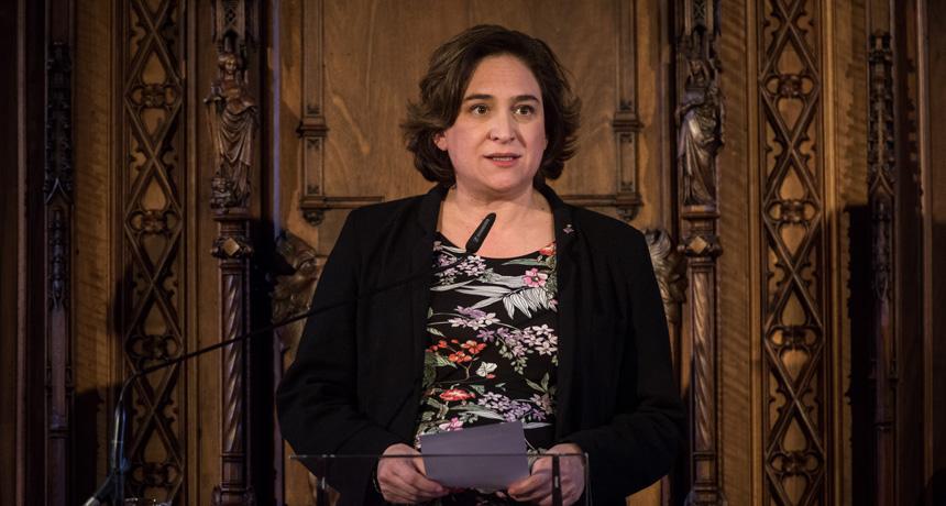 Ada Colau - Acte de lliurament Premis Ciutat de Barcelona 2016