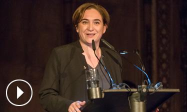 Vídeo discurs d'Ada Colau - Premis Ciutat de Barcelona 2015