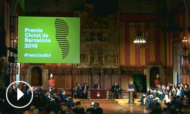 Video Acte de lliurament Premis Ciutat de Barcelona 2016