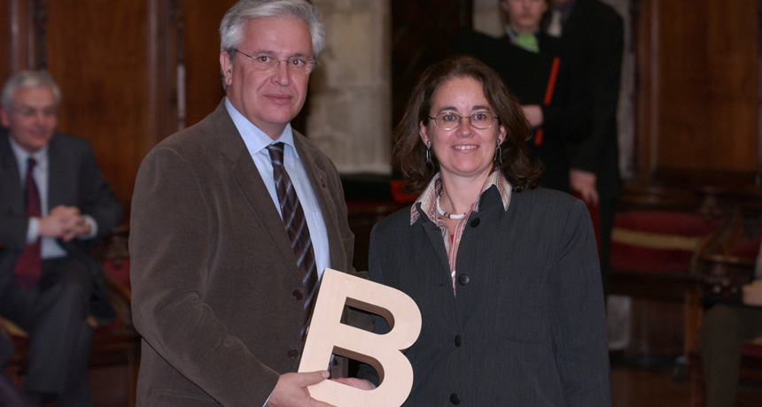 Anna Monjo - Premi Ciutat de Barcelona Agustí Duran i Sanpere d'Història de Barcelona 2003