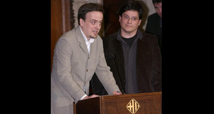 Ricard V. Solé i Ramon Ferrer Cancho - Premi Ciutat de Barcelona d'Investigació Científica 2003