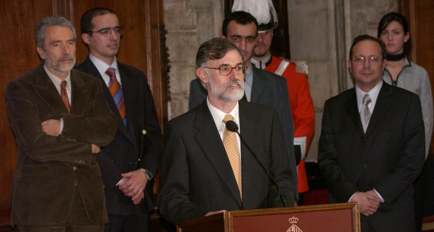 Raimon Jané, Jordi Solà, Pere Artís, José Antonio Fiz i Josep Morera - Premi Ciutat de Barcelona d'Investigació Tecnològica 2004