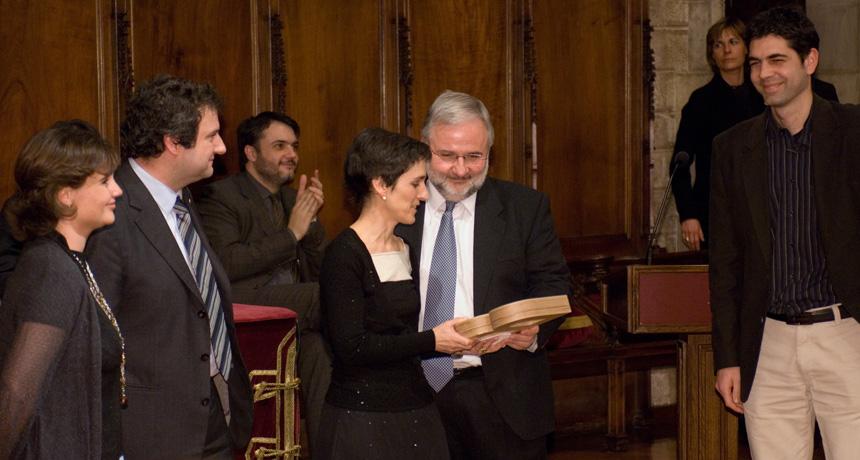 Maria Pau Ginebra, Josep Anton Planell, Conrado Aparicio, Elisabeth Engel i Damien Lacroix - Premi Ciutat de Barcelona d'Investigació Tecnològica 2006
