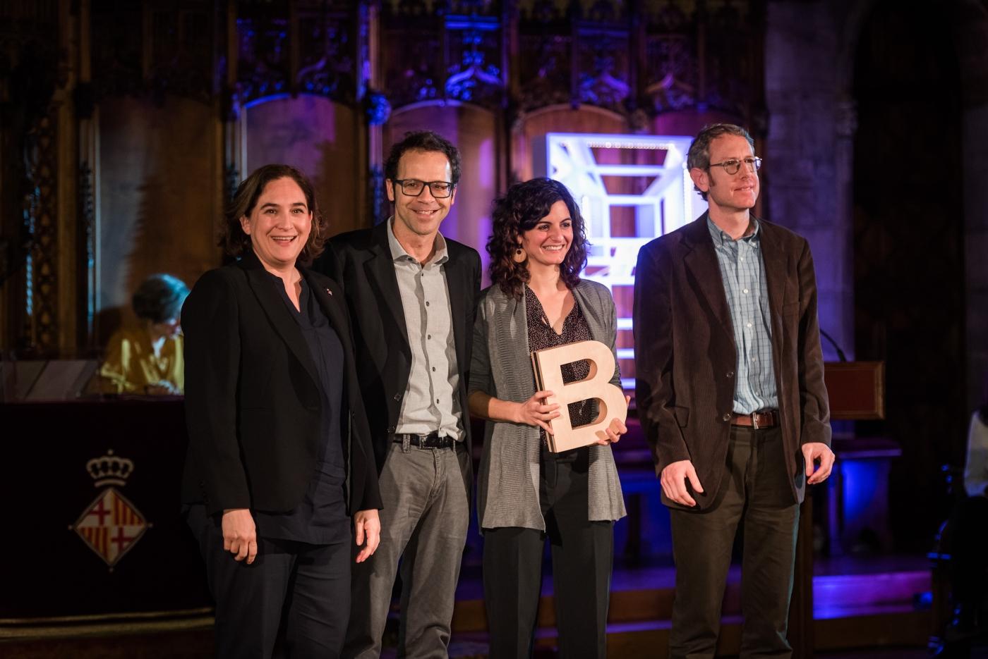 John R.B. Palmer, Aitana Oltra i Frederic Bartumeus - Premi Ciutat de Barcelona de Ciències de la Terra i ambientals 2017