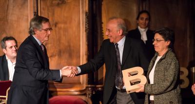 Jordi Torra i la Dra. Carme Jordi - Premi Ciutat de Barcelona de Ciències experimentals i tecnologia 2013