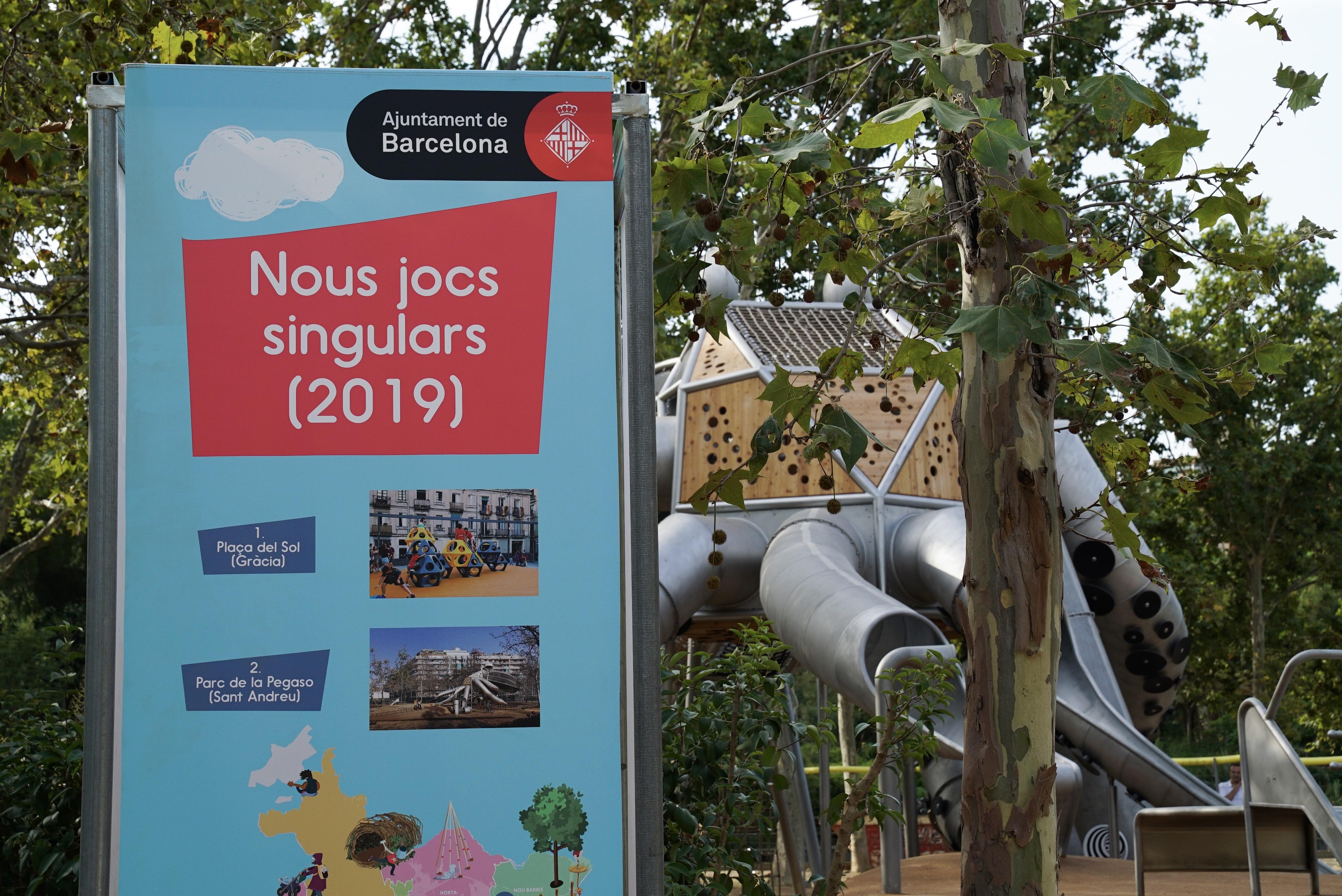 Nou Espai De Jocs Infantils Singulars Al Parc De La Pegaso De Sant Andreu Servei De Premsa