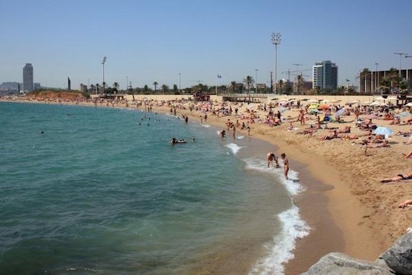 Platja de la Mar Bella, Diagonal Mar i el Front Marítim