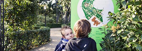 Imatge horari als parcs