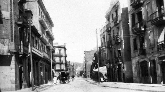 Antigua calle Bogatell, hoy Rogent. 1930