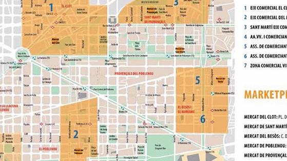Zones comercials i mercats a Sant Martí