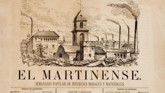 El Martinense. Cabecera del semanario popular de Sant Martí de Provençals.1879.