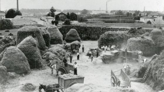 Era de la masia Can Canals. 1910.