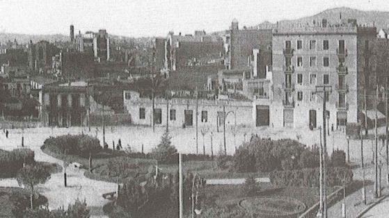 Plaça d'Espanya, cap al 1912