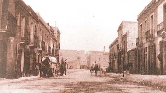 Carrer de Port, a principis del segle XX