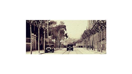 Fotografia històrica del barri de les Tres Torres