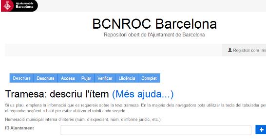 Publicar en el BCNROC