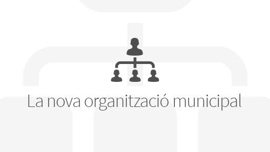 Banner de la nova organització municipal