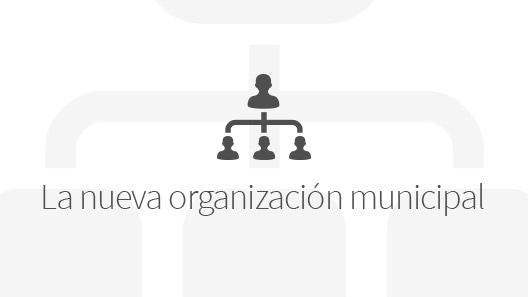 Banner de la nueva organización municipal
