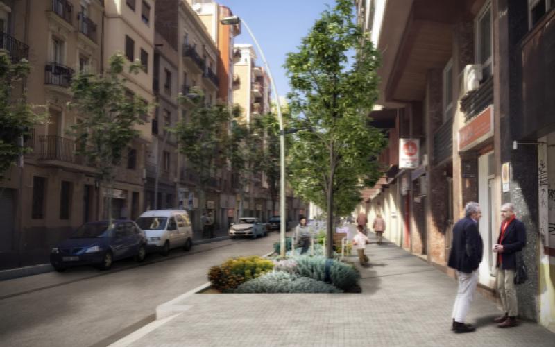 Reurbanització del carrer de Benavent, entre el carrer de Felipe de Paz i l'avinguda de Madrid.