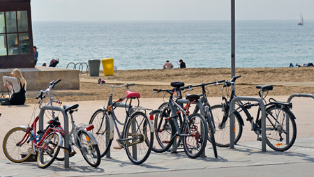 Where can you park your bicycle?