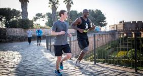 Mobile world congress, Mark Zuckerberg, Castell, Montjuïc running