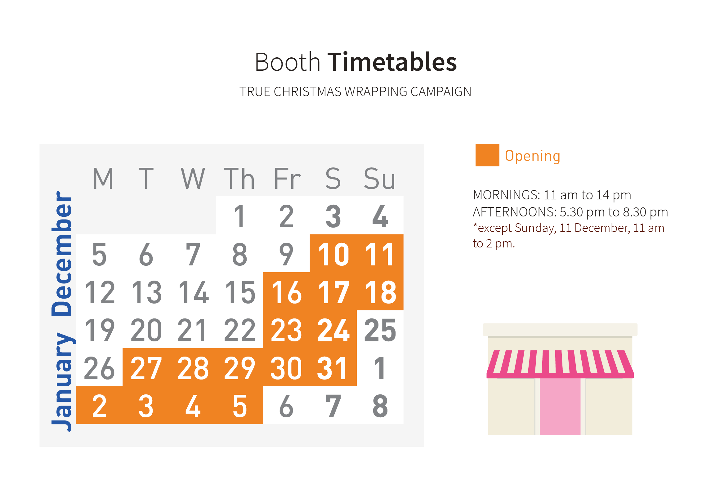 Booth Timetables