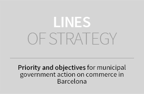 Lines of strategy. Priority and objectives for municipal government action on commerce in Barcelona