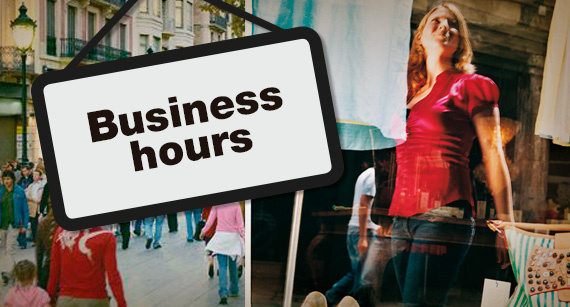 Information on business-hour regulations