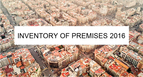 Inventory of premises in Barcelona 2016