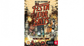 Cartel Fiesta Mayor de Sants 2016