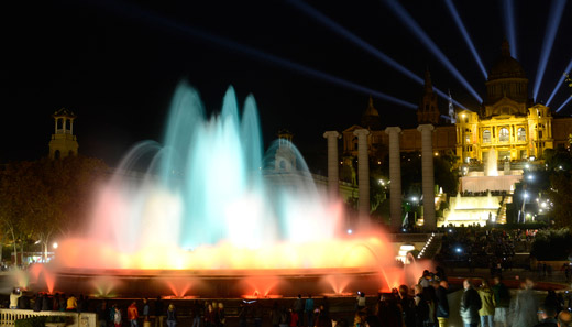 The ornamental fountains start their summer timetable