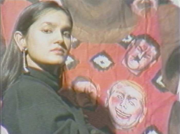 Still from Pratibha Parmar, Emergence (1986), 20 minutes, Color, 16mm, featuring Sutapa Biswas. Image courtesy the artist.
