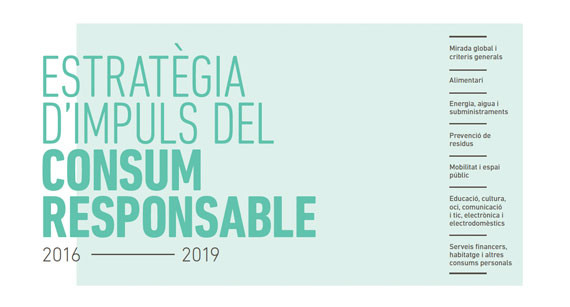 Responsible consumption promotion strategy 2016-2019