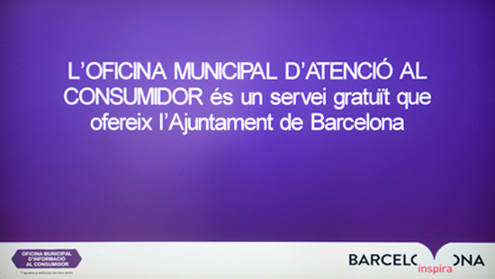 The Municipal Consumer Information Office is a free service offered by Barcelona City Council.